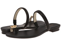 Michael Michael Kors Nora Toe Thong Black Vachetta Nappa Women's Sandals