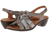 Ara Pinkie Gun Metallic Grey Nubuk Women's Sandals Gray