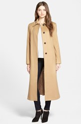 Women's Fleurette Point Collar Long Cashmere Coat