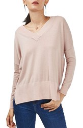 Topshop Women's Slouchy V Neck Sweater