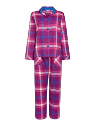 Cyberjammies Magenta Check Pyjama Set Purple