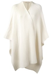 Michael Michael Kors Ribbed Poncho Nude And Neutrals