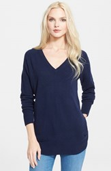 Women's Equipment 'Asher' V Neck Cashmere Sweater Peacoat