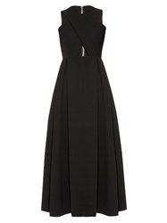 Preen Saunt Cut Out A Line Dress Black
