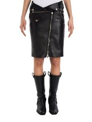Moschino Asymmetrical Zipper Pencil Skirt Black