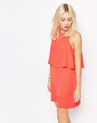 Influence Double Layer Shift Dress Peach Pink