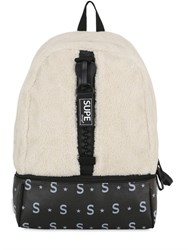 Supe Design Space Bag Faux Shearling Backpack