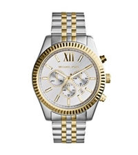 Michael Kors Lexington Silver And Gold Tone Watch Two Tone