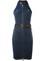 Diesel Halterneck Denim Dress Blue