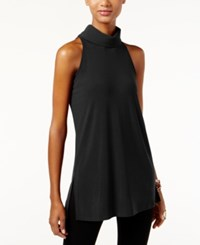 Inc International Concepts Mock Turtleneck Keyhole Tunic Only At Macy's Deep Black