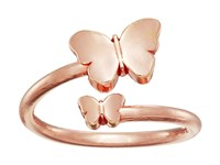 Alex And Ani Ring Wrap Butterfly Rose Gold Ring