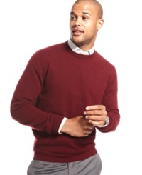 Club Room Big And Tall Cashmere Crew Neck Sweater Cabernet