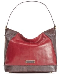 Tignanello Classic Icon Leather Hobo Rouge