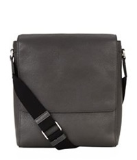 Mulberry Maxwell Slim Messenger Grain Leather Bag Dark Grey
