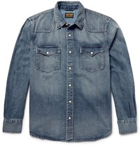 Jean Shop Hop Wahed Denim Wetern Hirt Dark Denim