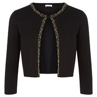Kaliko Embellished Trim Shrug Black
