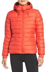 The North Face Women's Moonlight Water Repellent 550 Fill Power Down Jacket High Risk Red