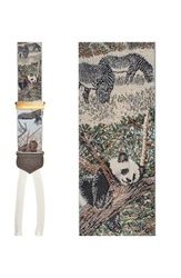 Trafalgar 'Endangered Species' Silk Suspenders Limited Edition Beige Brown Green