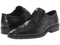 Ecco Illinois Wing Tip Tie Black Men's Lace Up Wing Tip Shoes