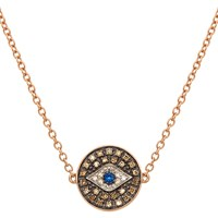 Earthy Chic Boutique Evil Eye Medallion Necklace Gold