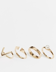 Paper Dolls Mix Ring Multi Pack Gold