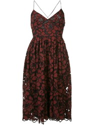Likely Floral Print Cami Dress Red