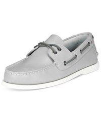 Tommy Hilfiger Men's Bowman Boat Shoes Men's Shoes Gray