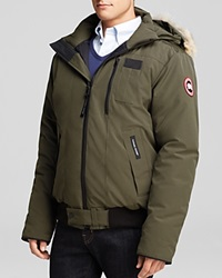 Canada Goose Borden Bomber Parka With Fur Hood Military Green