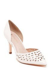 Restricted Jemma Lacer Cut Pump White
