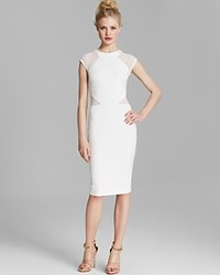French Connection Dress Vivien Paneled Jersey Winter White