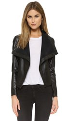Bb Dakota Ariana Drape Front Jacket Black