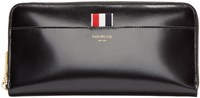 Thom Browne Black Leather Zippered Long Wallet