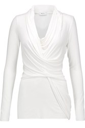 Bailey 44 Draped Jersey Top White