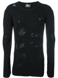 Lost And Found Ria Dunn Distressed Long Sleeve Crew Neck Jumper Black