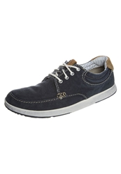 Clarks Norwin Vibe Casual Laceups Navy Canvas Blue