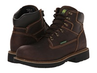 John Deere 6 Waterproof Lace Up Chocolate Men's Lace Up Boots Brown