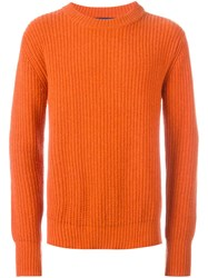 Etudes Studio Ribbed Jumper Yellow And Orange
