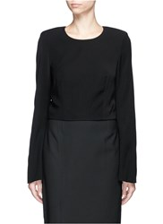 Elizabeth And James 'Leo' Bell Sleeve Cropped Top Black