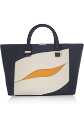 Victoria Beckham Quincy Color Block Leather Tote