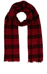 Destin Men's Plaid Boucle Scarf Red