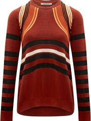 Paco Rabanne Ottoman Striped Sweater Red
