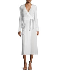 A.L.C. Ray Long Sleeve Crepe Wrap Dress White Size 6