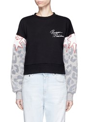 Etre Cecile 'Superstar' Oversized Cotton Fleece Sweatshirt Black