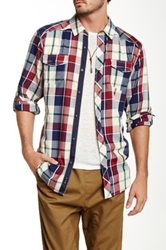 Burnside Plaid Long Sleeve Shirt Beige