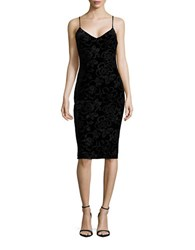 Jessica Simpson Jacquard Velvet Slip Dress Black