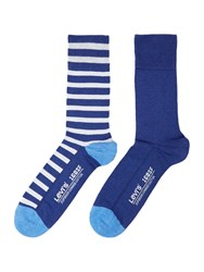 Levi's 2 Pack Coloured Stripe Sock Blue