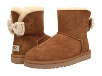 Ugg Mini Bailey Knit Bow Chestnut Twinface Women's Cold Weather Boots Brown