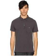 Todd Snyder Weathered Pocket Polo Charcoal Men's Clothing Gray