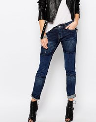 Blank Nyc Patched Boyfriend Jeans All The Right Places Blue