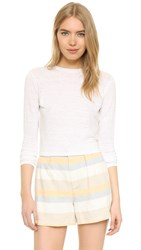 Alice Olivia Air Delaina Crop Top Off White
